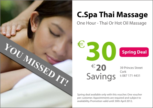 Thai Massage Deal Voucher